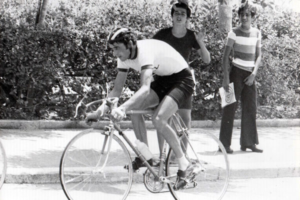 Stelios Vaskos during the Balkans Championship in Rhodes, 1975.